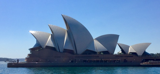 The sails of the opera house