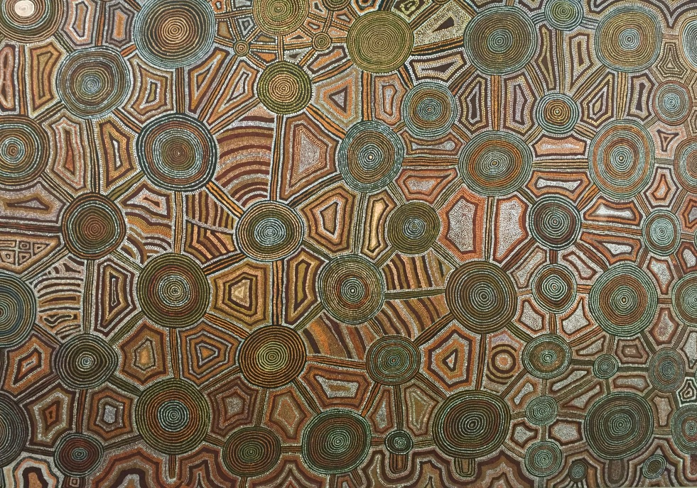 Untitled (Jupiter Well to Tjukula) by Uta Uta Tjangala (1979)