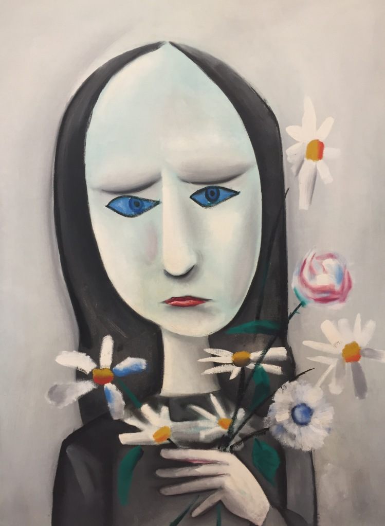 Angry young girl by Charles Blackman (1958)