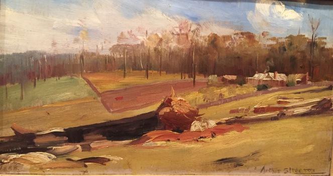 Julian Ashton, The Corner of the Paddock, 1888