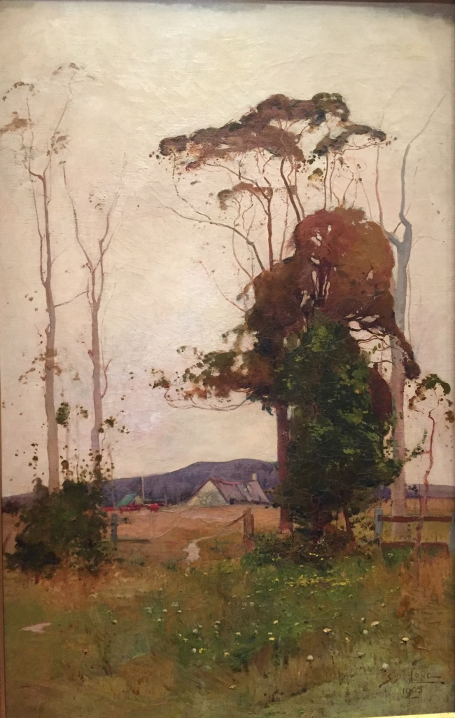 Sydney Long, Farm Landscape, 1905