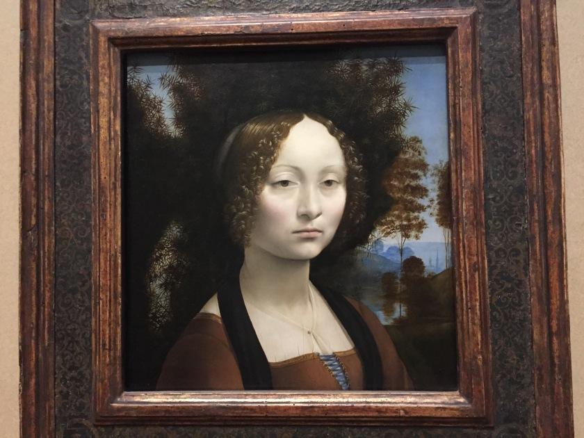 Ginevra de Benci by Leonardo da Vinci, 1474