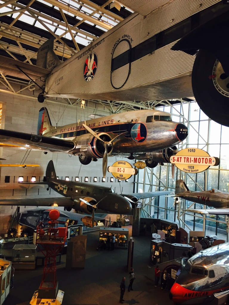 Historic planes at the National Space and Flight Museum