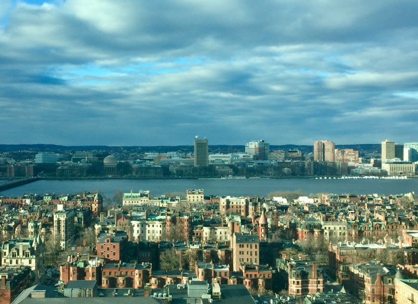 Boston river and skyline