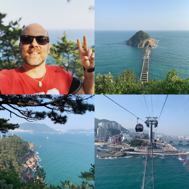 Amnam Park and the cable cars in Busan