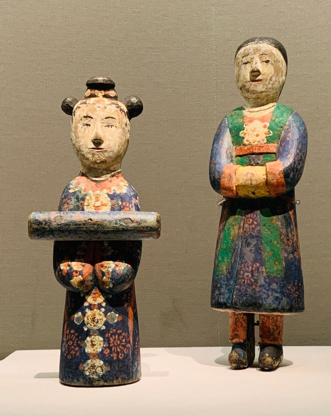 Wooden figurines decorating a funeral bier, late Joseon period (Korea)
