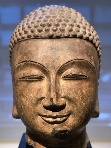 Chinese buddha head, 560