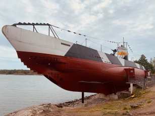 Submarine on Suomenlinna island