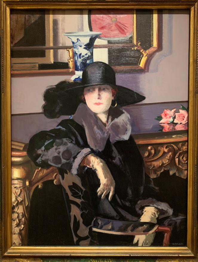 A Lady in Black by FCB Cadell, 1925