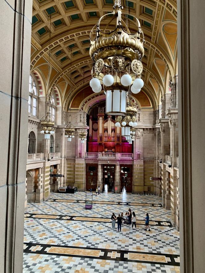 Interior entrance hall of Kelvingrove