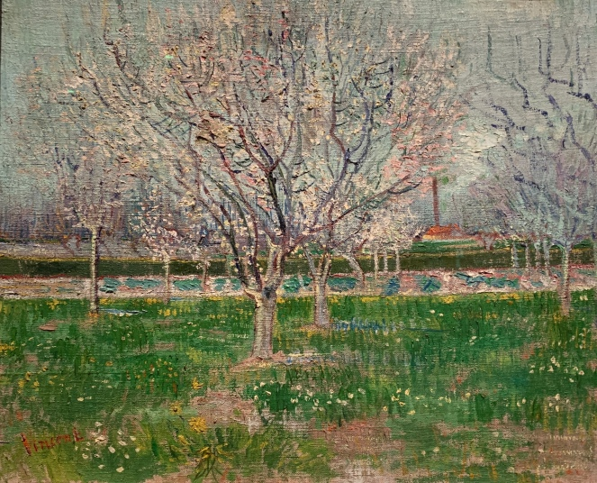 Orchard in Blossom, Vincent Van Gogh, 1888