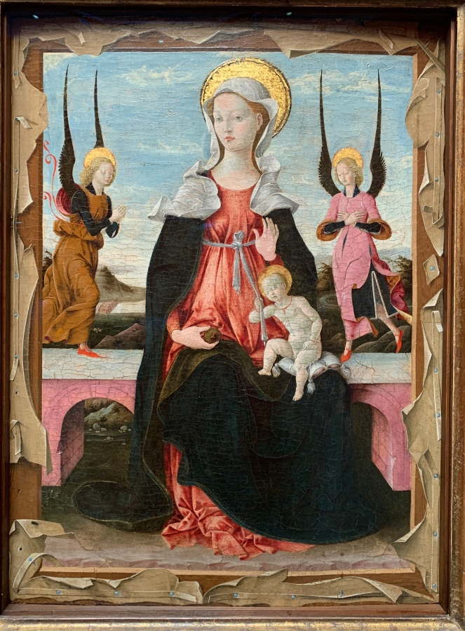 The Virgin and Child with Two Angels by the Ferrarase School, 1470