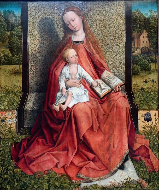 Madonna and Child by Master of the Embroided Foliage, late 15th century